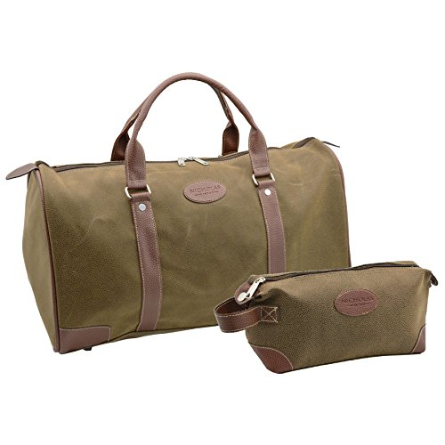 Nicholas Winter Men's Overnight Holdall Bag & Travel Shaving bag Set