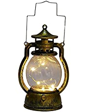 MERIGLARE Klassieke olielamp kerst elektronisch kaarslicht vakantie led lantaarn lamp tuindecoratie