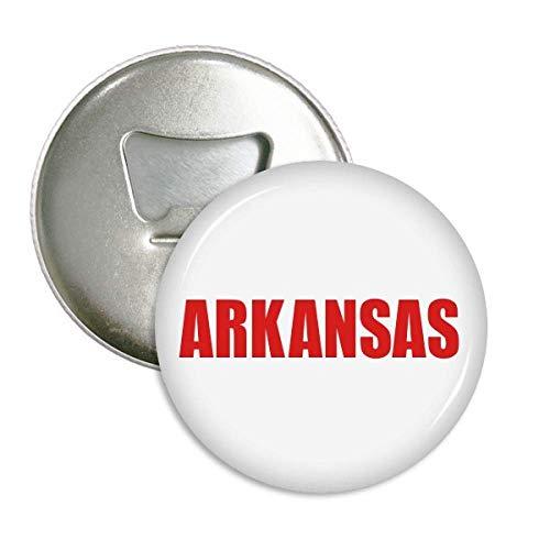 Arkansas America City Red Bottle Opener Magnet Round Badge Button 3pcs -