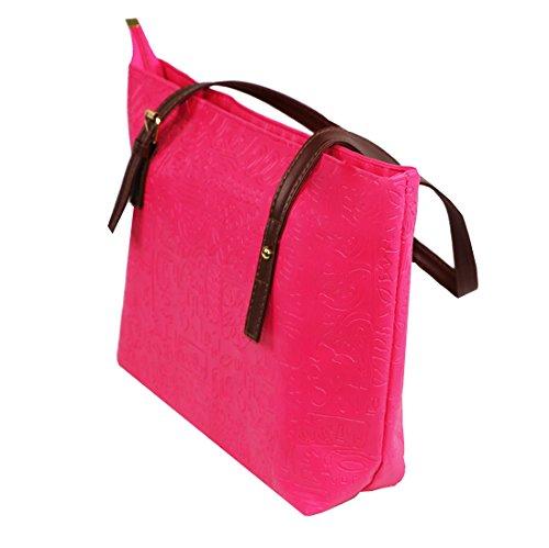 (womens Shoulder Bag Casual Big Shoppingbags Tote Handbag Work Bag Travel Bags for Women Girls Ladies (rose red))