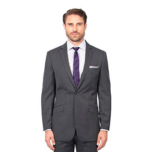 Combatant Gentlemen Men's Charcoal Slim Fit Suit 38 Long Charcoal by Combatant Gentlemen