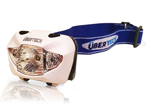 Headlamp led. Best led Headlamp.Duracell Batteries Included. Durable, Waterproof, Comfortable. Brightest quality Cree Led Headlamp.Red Light and flashing. Running, jogging, caving, spelunking, hiking, camping, hunting, fishing.Lifetime guarantee. by Uber Tech