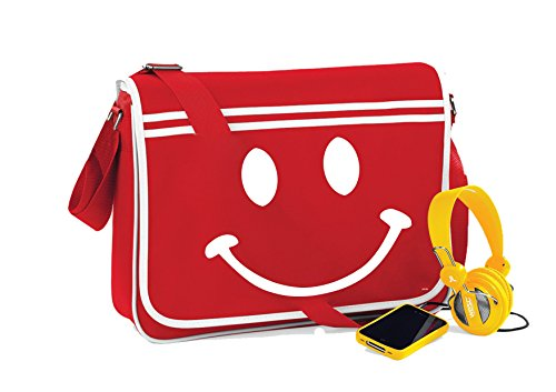 Face Cherry Novelty Messenger Smiley Red Bag Retro Sayings Funny unisex dRxqA7