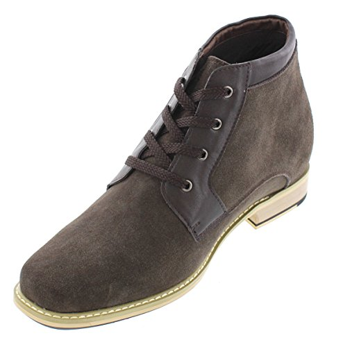 inches 8 Elevator Increasing Boots Shoes CALTO 2 Dark T18052 Taller Brown height Nubuck aqWxnpFRtw