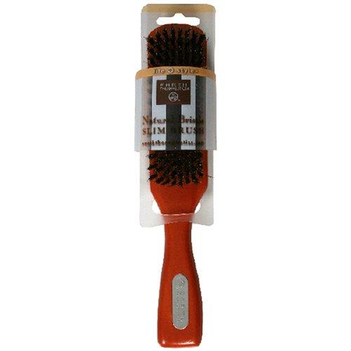 Earth Therapeutics Life + Style Natural Bristle Slim Brush, 1 - Hair Slim Brush