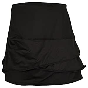 Lucky in Love Long Scallop Skirt-Large-Black