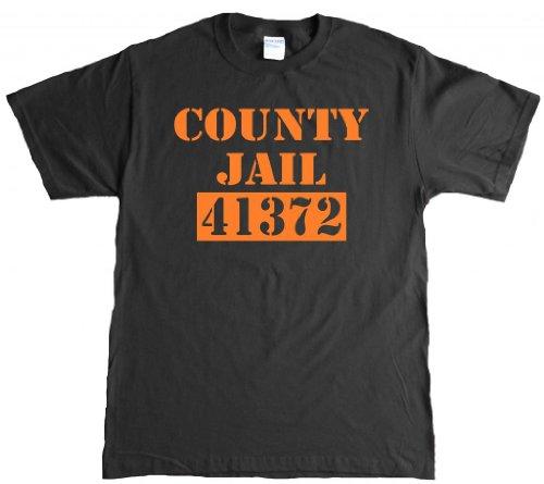 County Jail Funny Halloween Fugitive prisoner Adult T-shirt