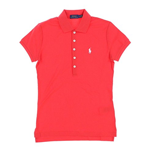 Coral Ralph Lauren Lauren - Polo Ralph Lauren Womens Polo Shirt (Medium, Coral)