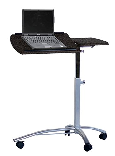 Mayline Laptop Computer Cart 29.5''W X 20''D X 27-38''H Height Adjustable Steel Frame Split Top Tilts 4 Locking Casters Perfect For Medical Office, Home/Business - Anthracite by Mayline