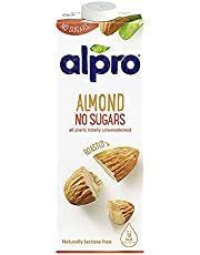 Alpro Drink Almond Unsweetened - 1 liter (Pack of 1)