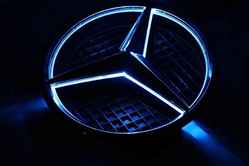Smk wholesale car front grille led logo for mercedes benz for Mercedes benz led star
