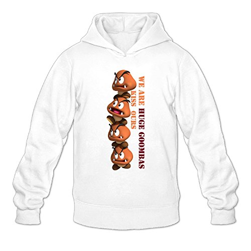 QK Super Mario Bro Goomba Men's Cool Hoodie M (Cute Super Mario Bros Halloween)