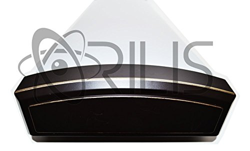Orilis Elegant Oil Rubbed Bronze 4 ft. 2-Light 48W Decorative Wraparound Flush Mount Ceiling Light Fixture with 6,000 Lumens - 6500K - 2x 24W LED T8 Tubes - Replacement for (4) 32W Fluorescent Bulbs by Orilis (Image #2)