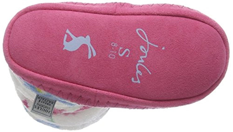 Joules Girls' V_Jnrpadaboutg Hi-Top Slippers, Off White (Cremflr), 1/3 UK (33/36 EU) (Manufacturer Size:Large)