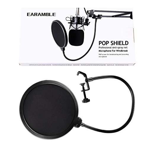 Earamble Studio Microphone Pop Filter Round Shape Wind Mask Shield Screen - Image 6