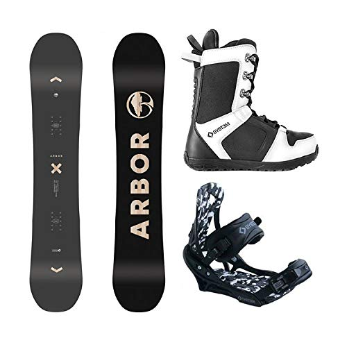 Arbor Package Foundation Snowboard 162 cm MW-System APX Bindings-System 2019 APX Boots 13