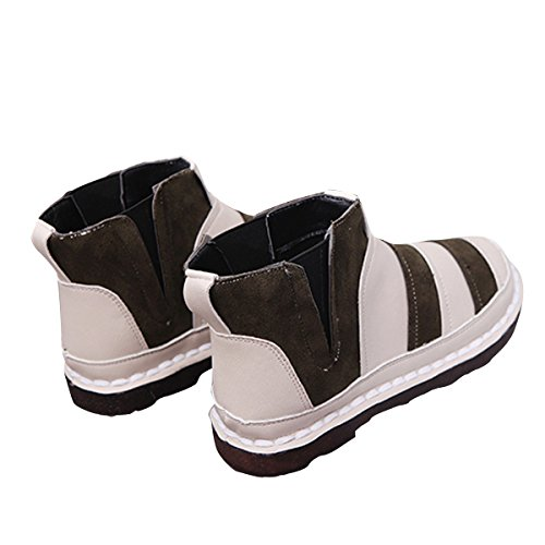 Shoes Green On Boots Stripe Fashion Dear Flat Time Women Ankle Comfortable Slip qHnwCO6xU