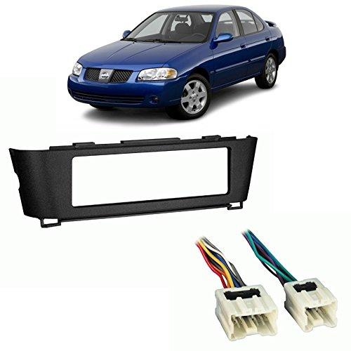 Fits Nissan Sentra 2000-2006 Single DIN Stereo Harness Radio Install Dash Kit ()