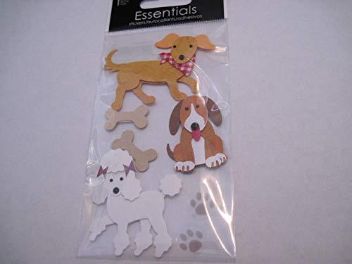 Sticker Scrapbooking Crafts Dimensional Sandylion Dogs Poodle Bones 3 Kinds
