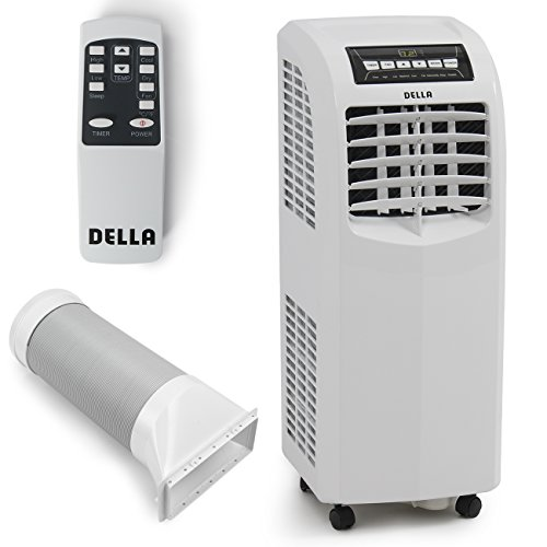 DELLA-048-GM-48266-8000-BTU-Portable-Air-Conditioner-Cooling-Fan-Dehumidifier-AC-Remote-Control-Window-Vent-Kit-White