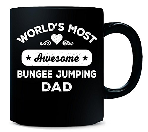 World's Most Awesome Bungee Jumping Dad. Father's Day Gift - Mug
