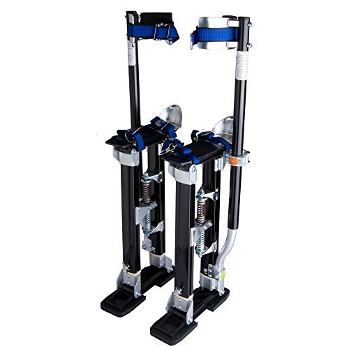 "Aluminum Tool Stilts 24"" to 40"" Adjustable Inch Drywall Stilt for Taping Painting Painter Taping Red by Yescom [並行輸入品] B018A3UT8G"