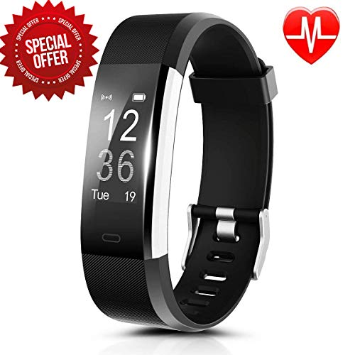 Fitness Tracker, Activity Tracker with Heart Rate Monitor and Sleep Monitor, Step Counter Pedometer Watch, IP67 Water Resistant Smart Band with 0.96OLED Touchscreen for Kids Women and Men