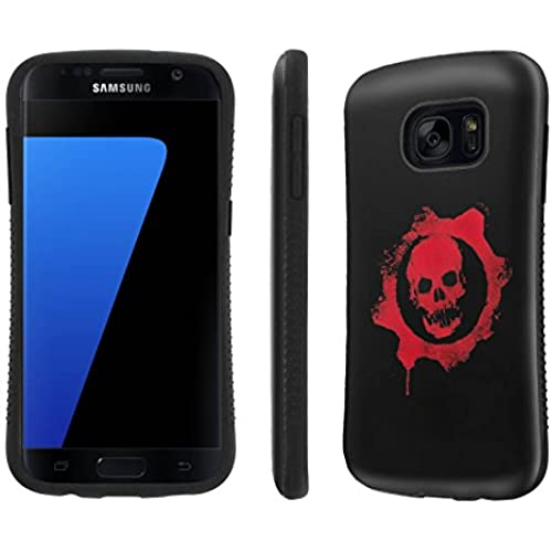 Galaxy [S7] Tough Designer Case [SlickCandy] [Black Bumper] Ultra Shock Absorbent - [Skull Emblem] for Samsung Galaxy S7 / GS7 Sales