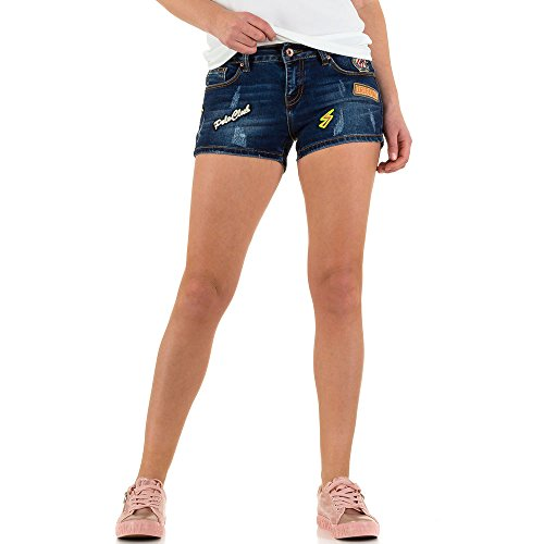 Used Look Hot Pants Jeans Shorts Für Damen , Blau In Gr. S bei Ital-Design