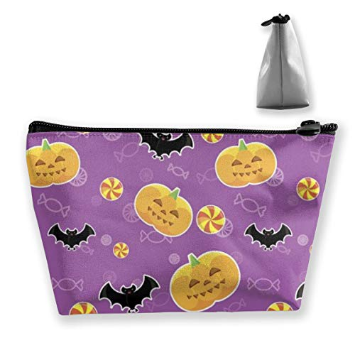 RobotDayUpUP Halloween Pumpkin Bat Womens Travel Cosmetic Bag Portable Toiletry Brush Storage Multipurpose Pen Pencil Bags Accessories Sewing Kit Pouch Makeup Carry Case]()