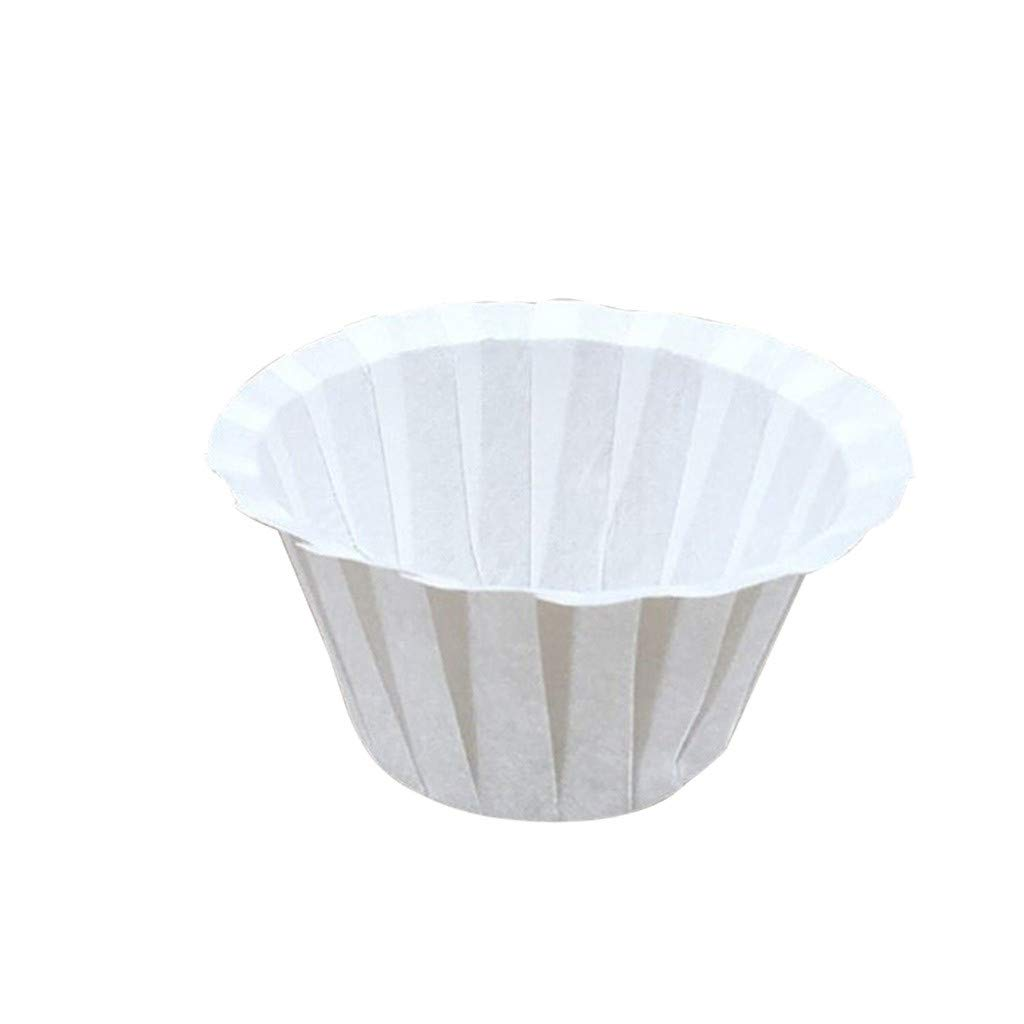 oldeagle Coffee Filter Paper Cup, Disposable K-Cup Coffee Paper Filters for Keurig Single Serve Filter | Pack of 50 (White)