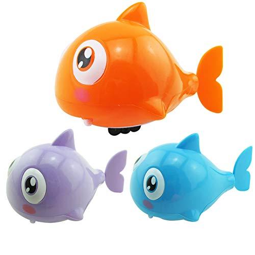 Slendima Plastic Cartoon Funny Mini Fish Model Shark Clockwork Bath Toy Wind Up Gift for Kids ()