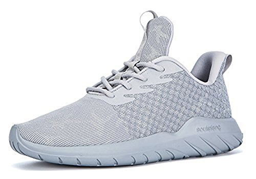 Soulsfeng Men Women Unisex Casual Fashion Sneakers Glow in Dark Running Shoes (Men US12=EUR46=30CM, Grey (Fabric Lining)) (Best Glow In The Dark Sneakers)