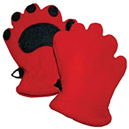 Bearhands Fleece Mittens, Infant, Red