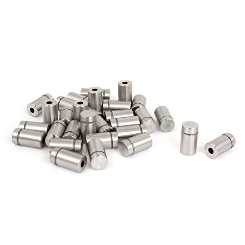 uxcell Stainless Steel Advertising Nail Wall Support Glass Standoff Fixing Screw 30pcs
