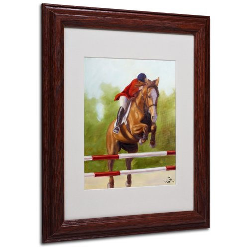 Michelle Moate Horse - Horse of Sport III Matted Artwork by Michelle Moate with Wood Frame, 11 by 14-Inch