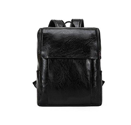 Leisure Skin Men's Multi Bag Backpack Travel Shoulder purpose Black Business Laidayepu ZXO6wqO