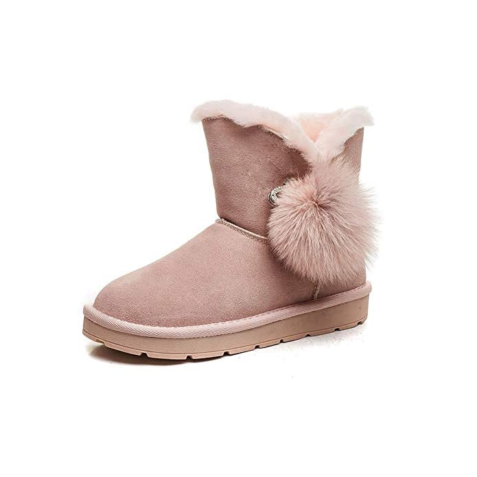 Women's Ykfchdx Flat Comfortable Cotton Warm Shoes Breathable Snow Style Winter Boots Thickened