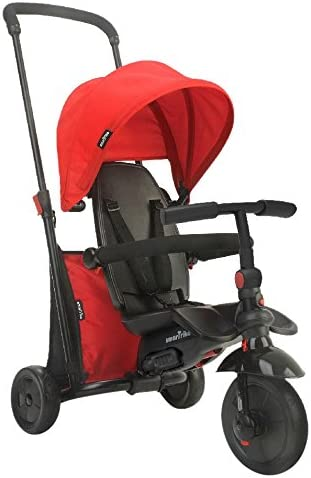 SMARTRIKE 6-in-1 Folding Trike 400 Series, Red Triciclo Plegable (6 en 1), Color Rojo, Rosso, 97L x 48W x 100H cm (8473)