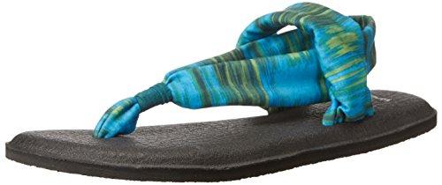 Femme Prints Sanuk Tongs Sling Ikat Yoga Blue 2 8q00IF
