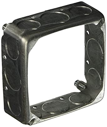 """HUBBELL WIRING203 662168 Square Extension with Eight 1/2"""" and Four 3/4"""" Knockouts, 4"""""""