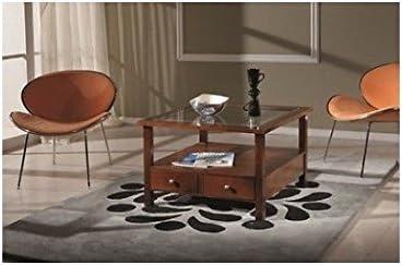 Tavolo Quadrato Arte Povera.Estea Mobili Tavolino Basso Quadrato Noce Arte Povera