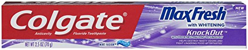 (Colgate Max Fresh Knockout Gel Toothpaste, 2.5 Ounce Pack Of 3)
