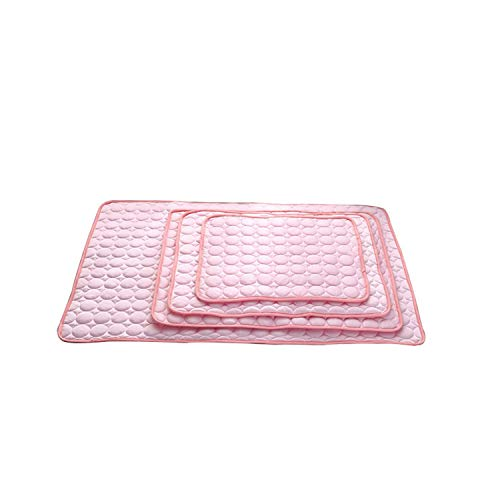 PG-One 1pc Summer Car Seat Dog Mat Plaid Dog Cushions for Travel Easy Clean Cooling Pet Cushion Beds for Large Dogs,Pink,70x56cm