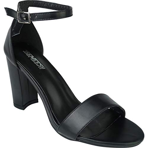 075e2ef554b967 Bemeesh Compensé Ouvert Franges Talon Chaussures Bout Cheville Noir Femmes  Haut Fille 4nz0ar4