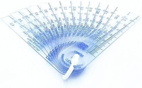 0.05-1mm Thickness Plastic Feeler Gauge Gap Filler Measuring Tool 13 in 1