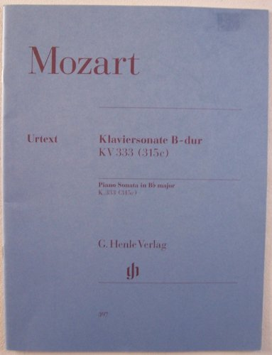Mozart Klaviersonate B-dur KV 333 (315c) Piano Sonata in Bb major K.333 (315c) URTEXT #397