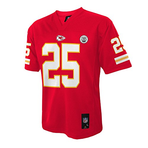 NFL Kansas City Chiefs Jamaal Charles Youth Boys 8-20 Mid-Tier Jersey, Red, X-Large (18/20)