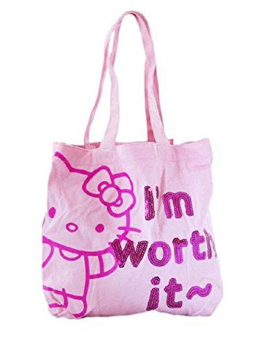 Bolsa Shopping la compra Hello Kitty rosa 34x 34cm