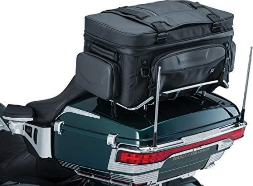 Kuryakyn 5251 XKursion XS Guardian Motorcycle Travel Luggage: Weather Resistant Seat/Trunk/Rack Bag with Bar Straps, Black ()